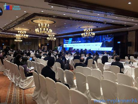 LED Wall, TV, Lighting & Sound System Rentals for Airfinance Journal | Orbis sponsor dinner LED Wall with Live Feed | Event Management